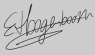 Handtekening Eugéne Hoogenboom